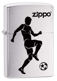 Зажигалка ZIPPO 200 Soccer Player  Brushed Chrome 29201