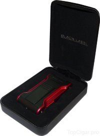 Зажигалка Black Label Dictator Black Matte & Red LBL80040